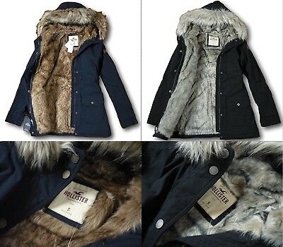 ccb84fc9b NWT HOLLISTER BY Abercrombie Fitch Faux-Fur Stretch Cozy-Lined Parka ...