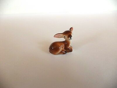 Vintage Miniature Bone China Baby Deer Fawn With Spots Figurine