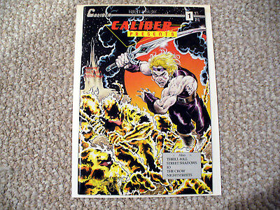 Caliber Presents #1 First James O'barr The Crow Tim Vigil Signed By Both Nr!