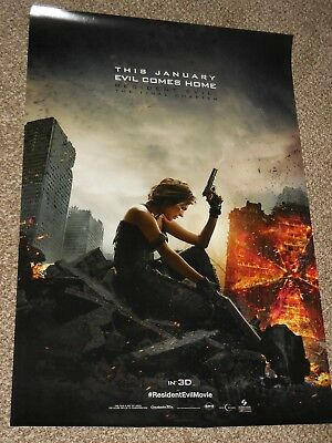 Resident Evil the Final Chapter vg 27x40 Original D/S Movie POSTER