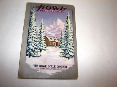 Vintage 1924 Howe Scale Co Refrigerator Catalog Oak Ice Box