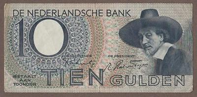 1944 Netherlands 10 Gulden Note