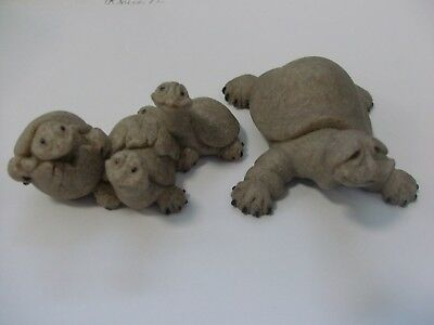 Second Nature Designs Quarry Critters - Tracey Turtle & Tres Amigos Figurines