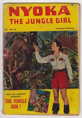 Nyoka Jungle Girl #64 (1952) Vintage GGA; bondage panels