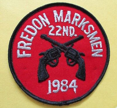 Fredon Marksmen 22th Annual Tournament 1984 New Iron-On Police Patch