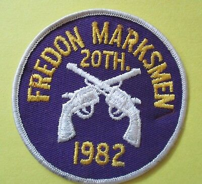 Fredon Marksmen 20th Annual Tournament 1982 New Police Patch