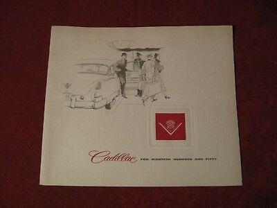 1950 Cadillac Original Factory Showroom Dealership Salesman Brochure Old booklet