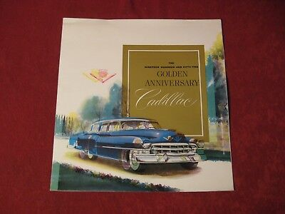 1952 Cadillac Original Factory Showroom Dealership Salesman Brochure Old Doubled