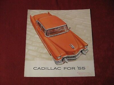 1955 Cadillac Original Factory Showroom Dealership Salesman Brochure Old Poster