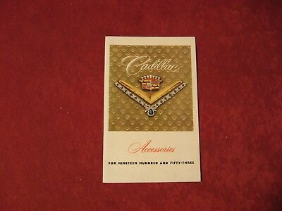 1953 Cadillac Accessories Original Factory Showroom Dealership Salesman Brochure