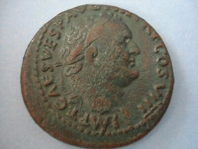 79-81 AD TITUS Ae as RIC 130a FINE PLUS NICE GREEN PATINA FROM THOMAS D WALKER