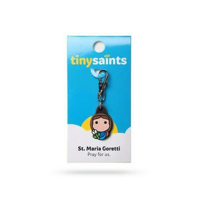 Tiny Saints St. Maria Goretti CHARM - Paracord, Bracelets, Backpacks, Gifts NEW