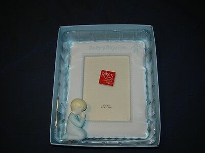 New Ceramic Baptism Picture Frame - Baby Boy