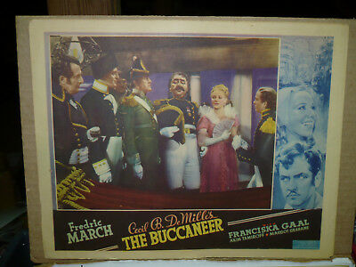 THE BUCCANEER, orig 1938 OC LC (Fredric March, Akim Tamiroff) - Cecil B DeMille