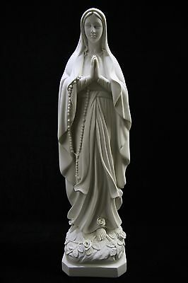 """24.5"""" Our Lady of Lourdes Virgin Mary Religious Catholic Statue Made in Italy"""