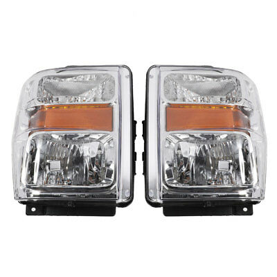 For 2008-2010 FORD F250 F350 F450 F550 Superduty Factory Style Headlights Chrome
