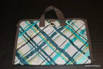 NEW THIRTY ONE Hanging Travel Storage Bag Case Makeup Uptown Jewelry Sea Plaid