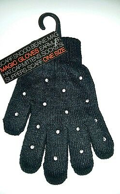 Sparkly Ice Skating Dress Magic Gloves  S/M