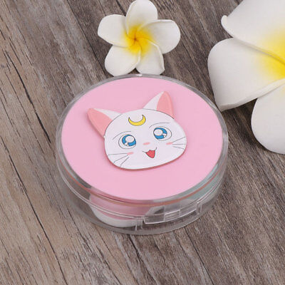Portable Contact Lens Box Plastic Cat Cartoon Case Travel Glasses Eye Care Kits