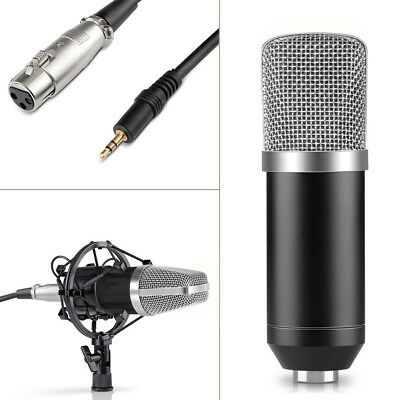 Condenser Sound Podcast Studio Microphone Mic &Arm Stand Set For PC Laptop Skype