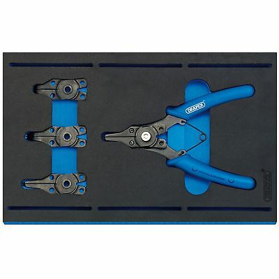 Draper Circlip Steel Plier Set With 1/4 Drawer EVA Insert Tray  5 Piece - 63196