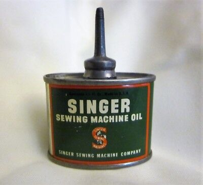 Vintage Singer Sewing Machine Oil Container with Lead Top - No Cap