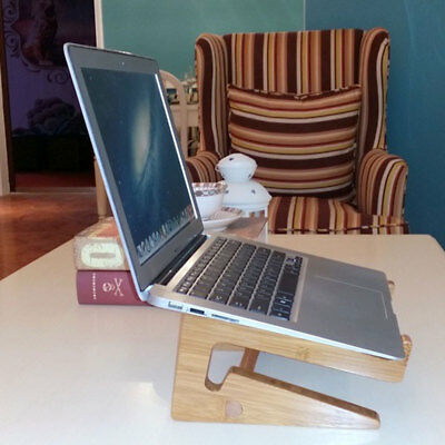 Luxury Wooden Bamboo Mount Holder Cradle Stand For MacBook Air / Pro HP Laptops