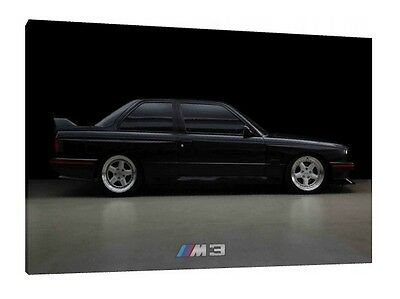 BMW E30 M3 - 30x20 Inch Classic Canvas - Framed Picture Print Wall Art Poster