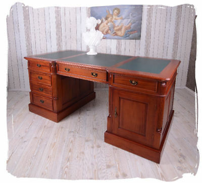 Colonial DESK Partner Desk Antique Office doppelschreibtisch Empire 180 cm