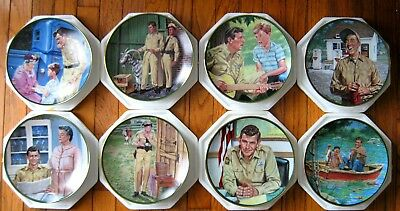 Andy Griffith Hamilton 8 plate collection FLAWLESS & COMPLETE.