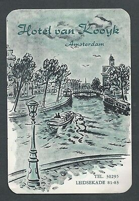 Hotel van Kooyk AMSTERDAM Netherlands - vintage luggage ART label