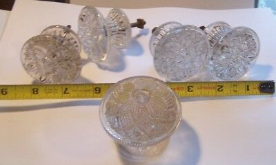 Antique Lot lacy Clear Glass Knobs  Drawer Pulls work table dresser knobs