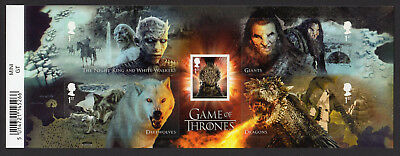 GAME of THRONES 2018 Stamp Mini Sheet Mint - WITH BARCODE MARGIN
