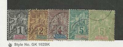 Senegal, Postage Stamp, #35-39 Used, 1892-1900 French Colony