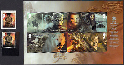 2018 GAME OF THRONES Set 6v Comms from PSB + SA Bklt  SG 4044, 4045-4048, 4049