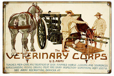US Army Veterinary Corps Military Nostalgic Sign