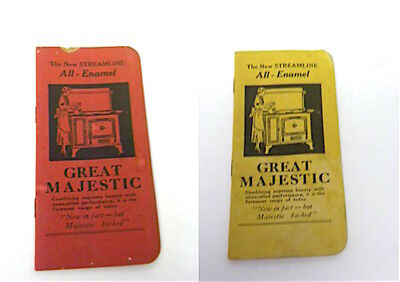 Vintage  GREAT MAJESTIC  ALL ENAMEL  GAS RANGE  POCKET NOTE BOOK  TABLET