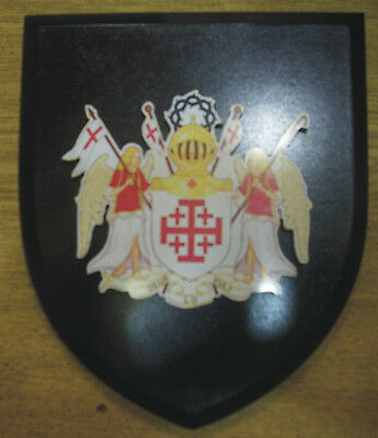 Medieval Holy Land War Crusades Knight Sepulchre Vatican Church Seal Plaque IHS