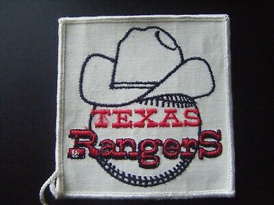 """Vintage Rare Texas Rangers Baseball Embroidered Sew-On Logo Patch 3 1/2"""" Square"""