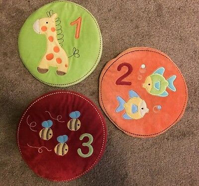 Nursery Wall Art Decor TIDDLIWINKS ABC 123 Bees Giraffe Fish Boys Girls Unisex