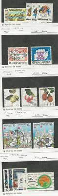 Singapore, Postage Stamp, #465//493 Used, 1985-6 Fruit, Scouts