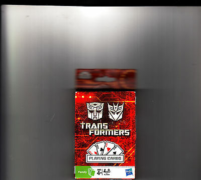 """2010 Transformers  Playing Cards  """"new Sealed"""" Family Ages 4+"""