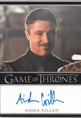 Game Of Thrones Season 2 - Aidan Gillen (Littlefinger) Autograph Card L