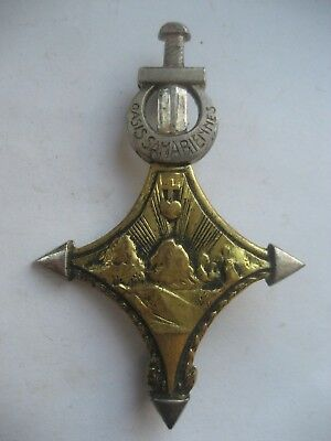 FRENCH SAHARA PERIOD BADGE FOR  OASIS SAHARIENNES 1950s.