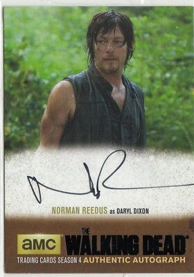 The Walking Dead Season 4 Part 2 Norman Reedus (Daryl) Black Parallel Autograph