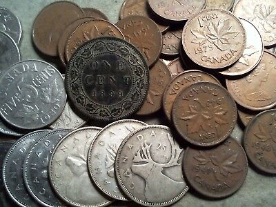 1899 - 1987 Canadian Coin Lot