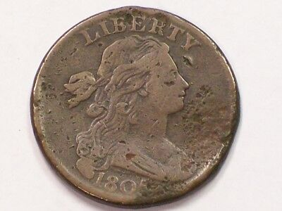 Well Detailed And Uncleaned 1805 Draped Bust Large Cent