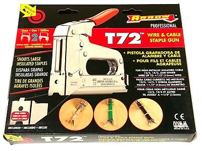 Arrow T72 Industrial Wire and Cable Staple Gun Cushioned Grip USA Made