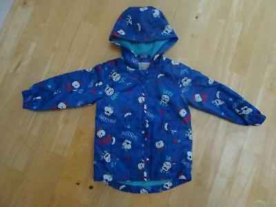GEORGE boys blue monkey print hooded jacket coat AGE 2-3 YEARS