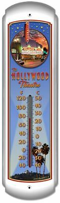 Blech Thermometer Hollywood Theatre USA Kino Reise Route 66 Werbung 43 x 12 cm
